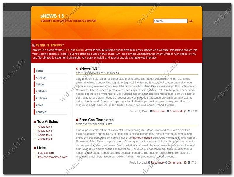 Дизайн сайта SunRise