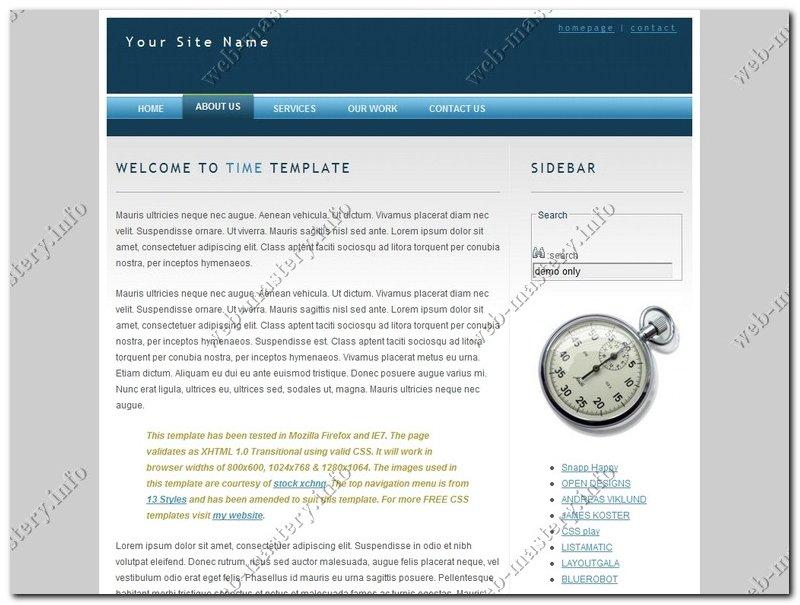 Дизайн сайта Time