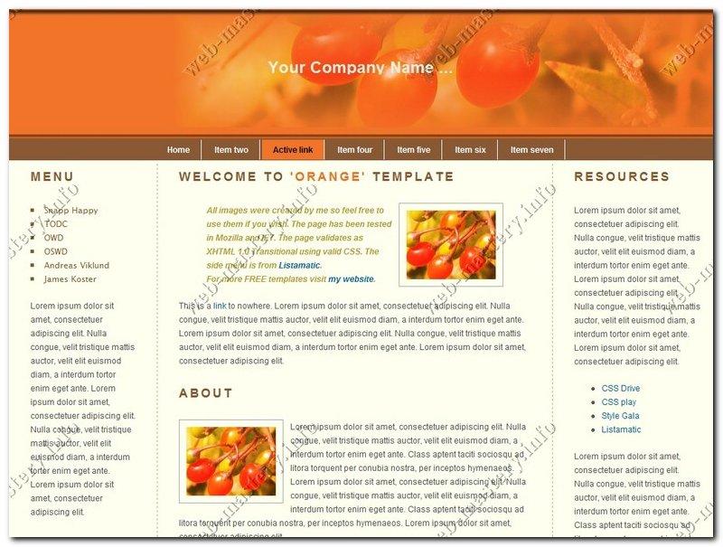 Дизайн сайта Orange