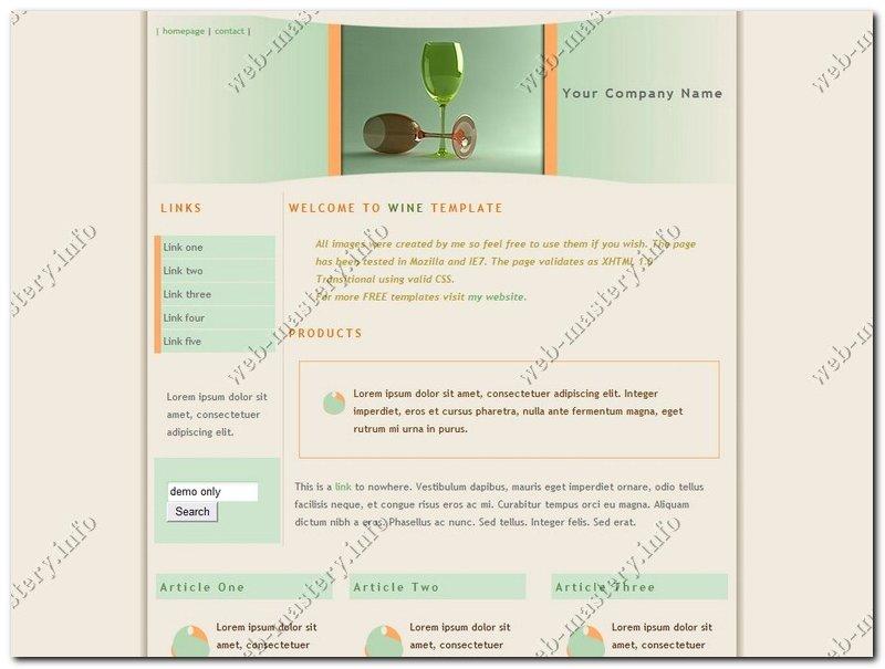 Дизайн сайта Wine