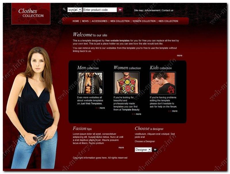 Шаблон сайта Clothes Collection