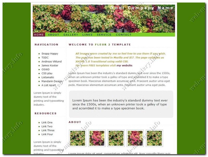 Дизайн сайта Fleur 2