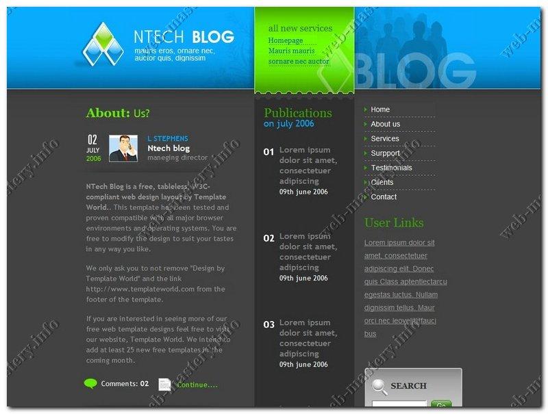 Шаблон Tech Blog