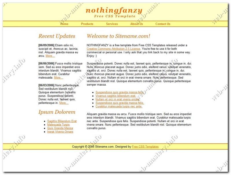 Готовый дизайн NothingFanzy