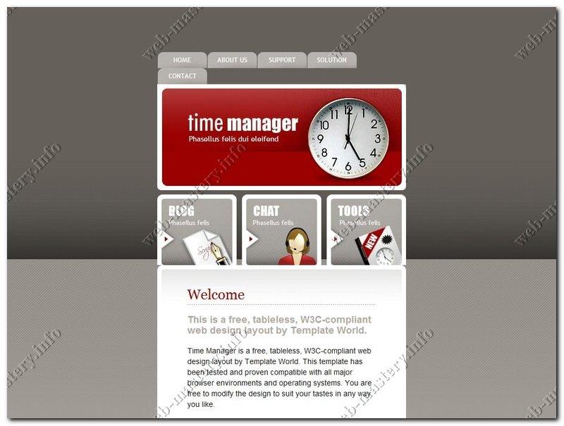 Шаблон сайта Time Manage