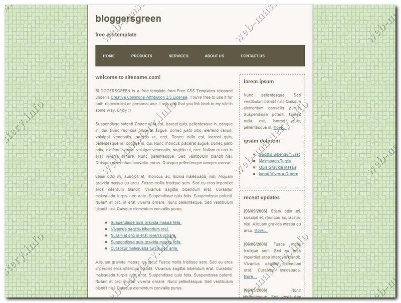 Дизайн Bloggers Green