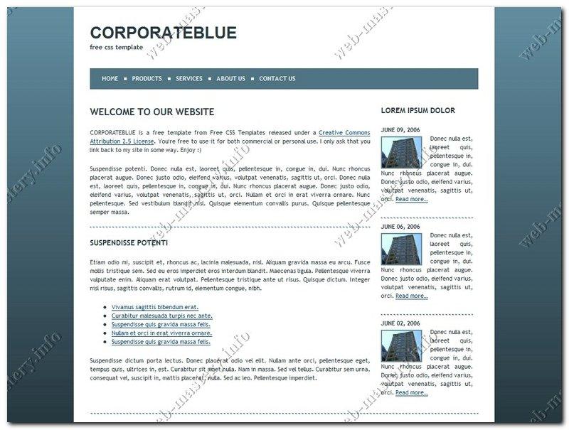 Шаблон сайта Сorporate Blue