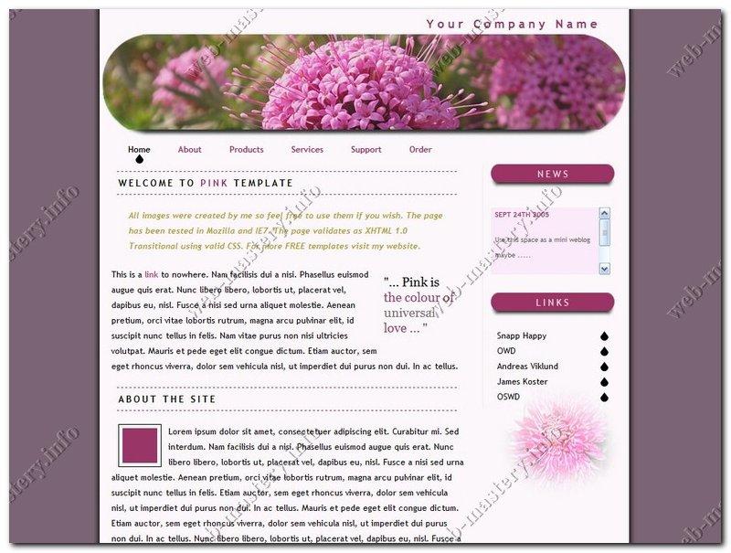 Дизайн сайта Pink
