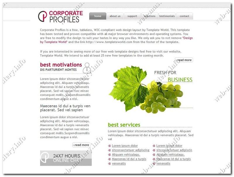 Шаблон сайта Corporate Profiles