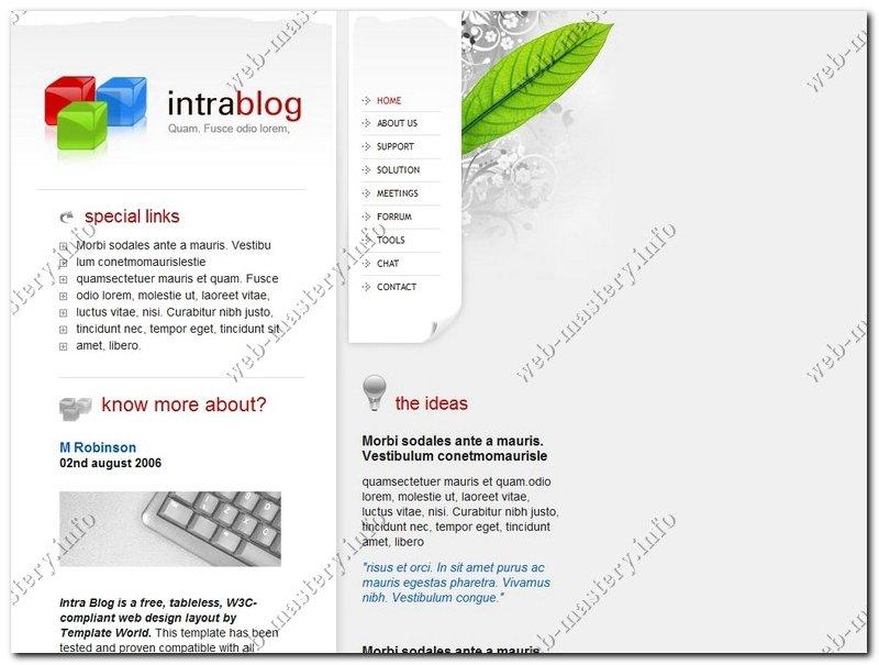 Шаблон Intra Blog