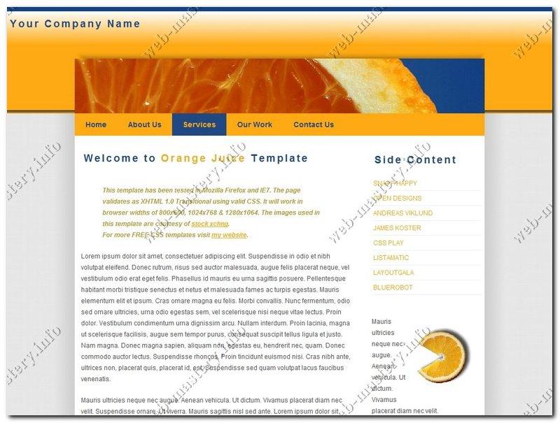 Дизайн сайта Orange Juice