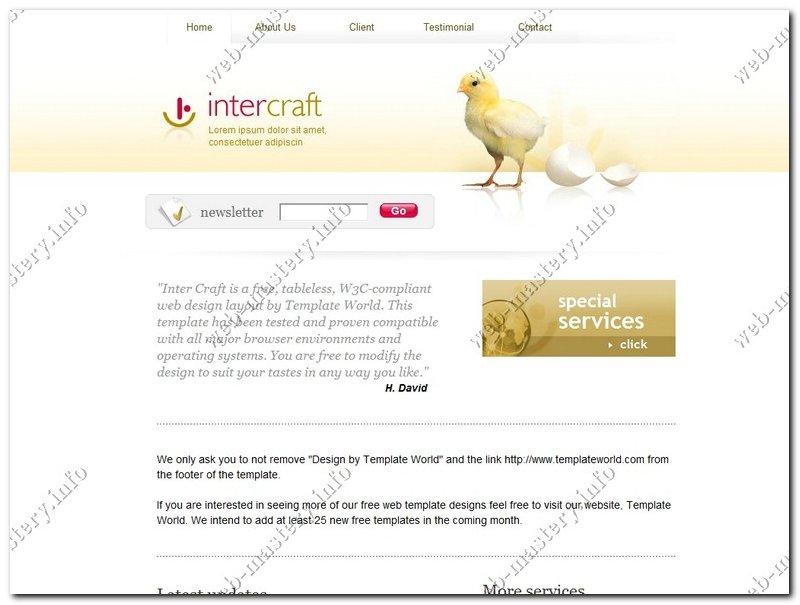 Шаблон сайта Inter Craft