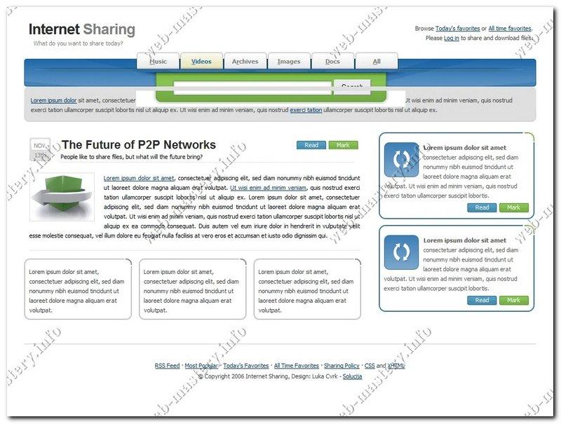 Шаблон сайта Internet Sharing