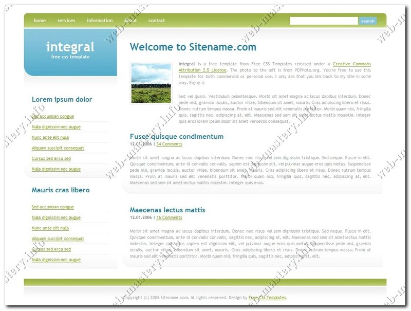 Шаблон сайта Integral