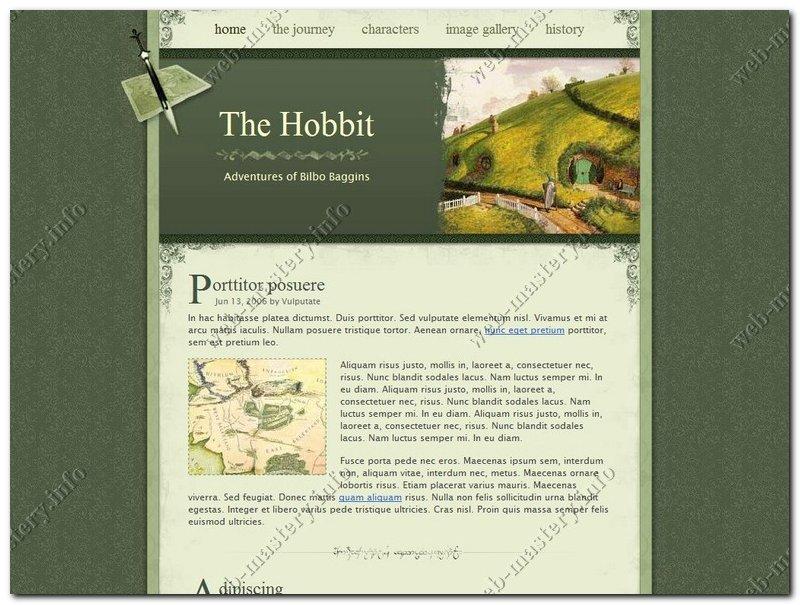 Шаблон сайта The Hobbit