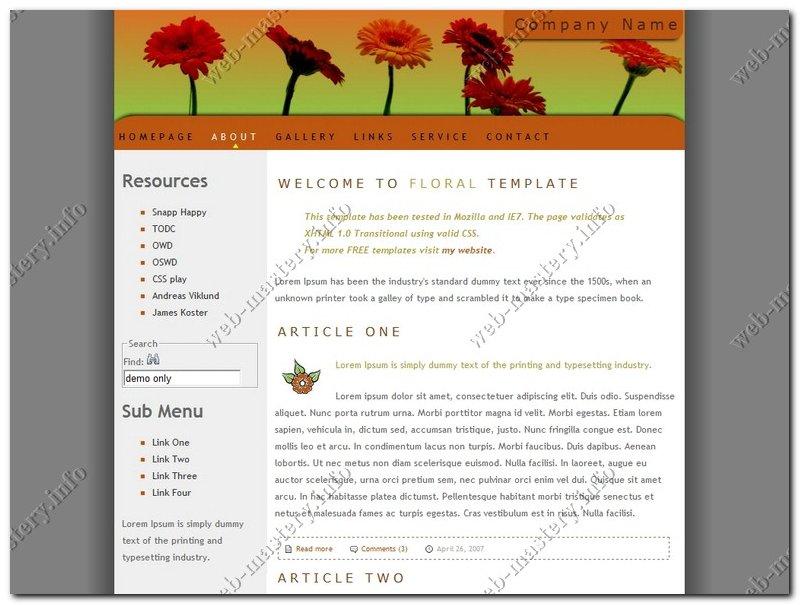 Шаблон сайта Floral