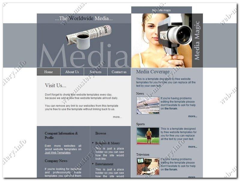 Шаблон сайта СМИ (The Worldwide Media)