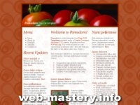 Сайт о помидорах (Pomodoro)