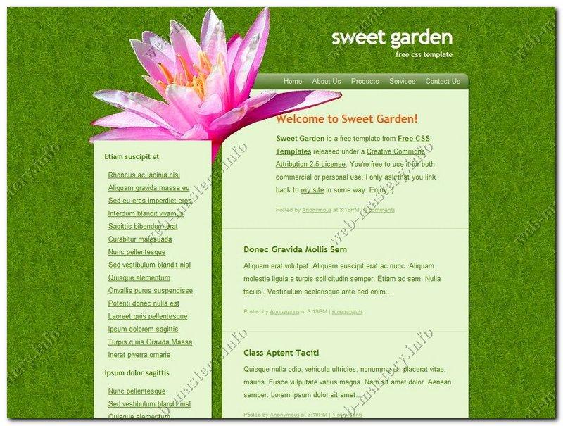 Шаблон сайта Sweet Garden
