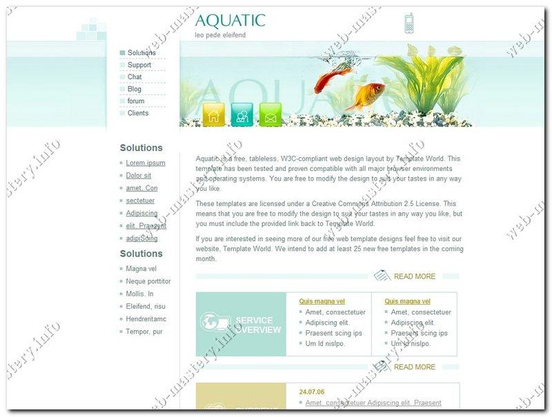 Сайт об аквариумный рыбках Aquatic