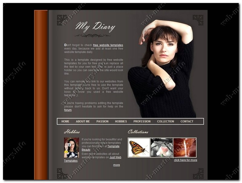 Шаблон My Diary (Мой дневник)