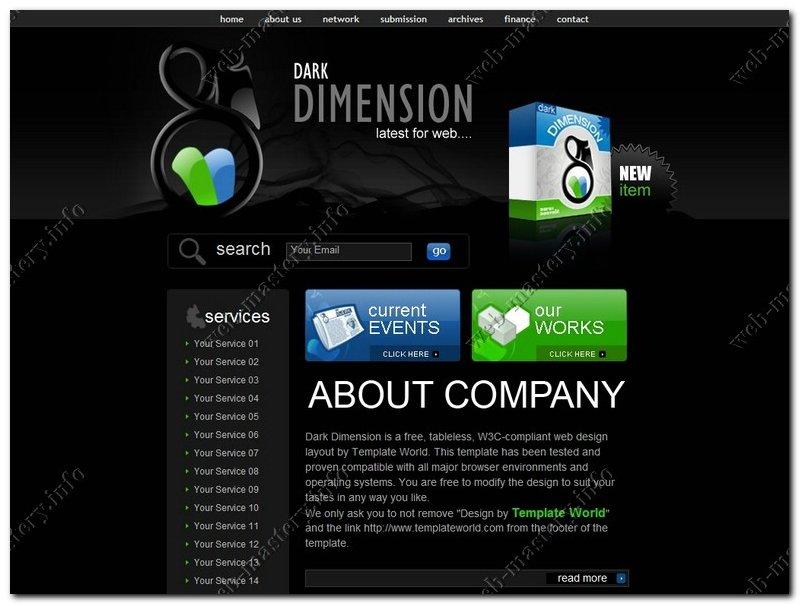 Шаблон сайта Dark Dimension