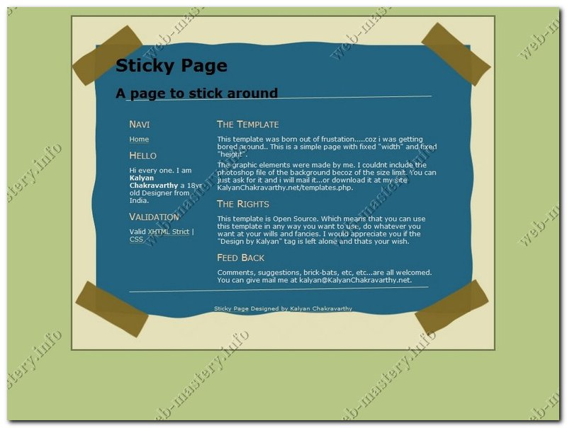 сайт визитка шаблон бесплатно: