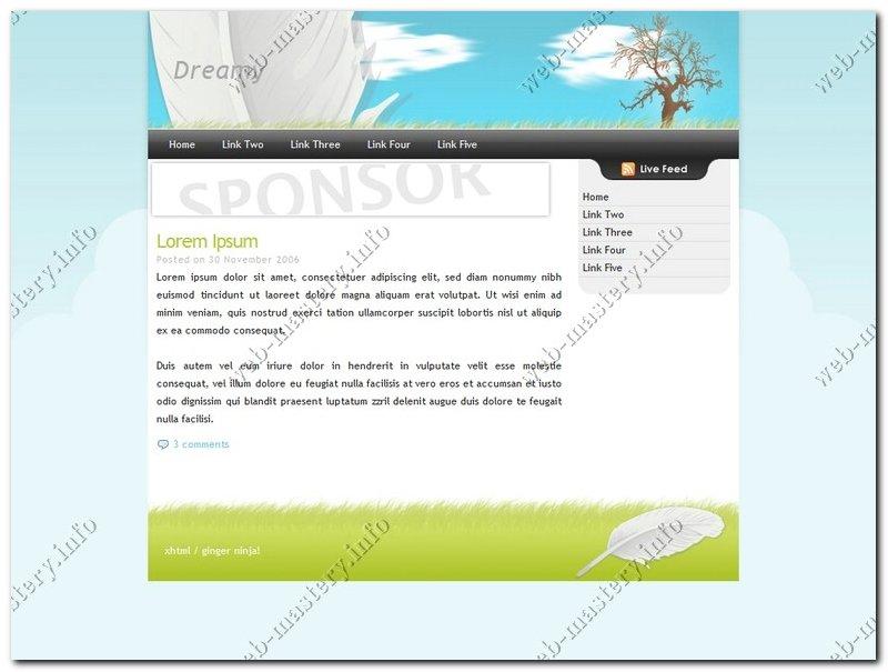 Готовый дизайн сайта Dreamy