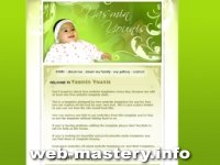 Шаблон Baby (сайт о ребенке)