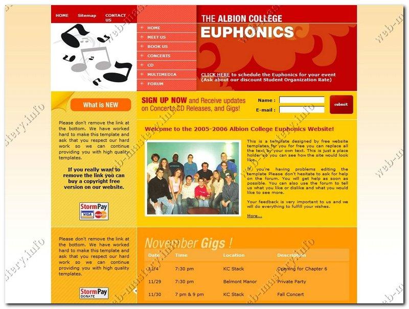 Сайт о музыке