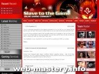 Игровой сайт Slave to the Game.