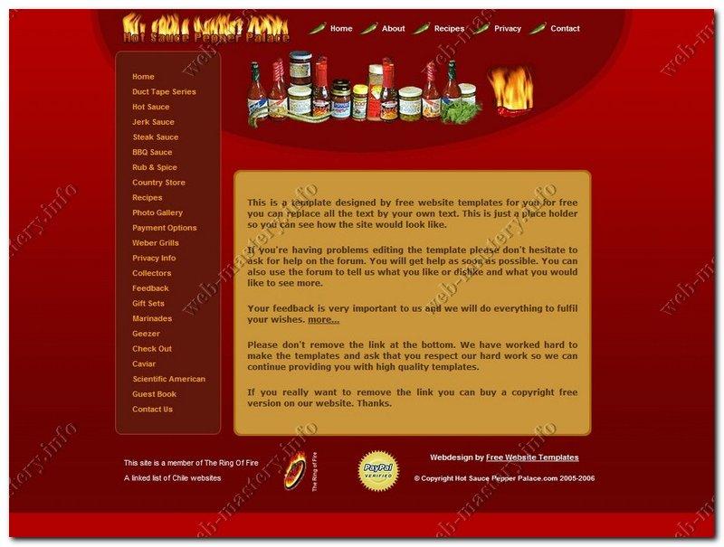 Сайт о соусах и маринадах