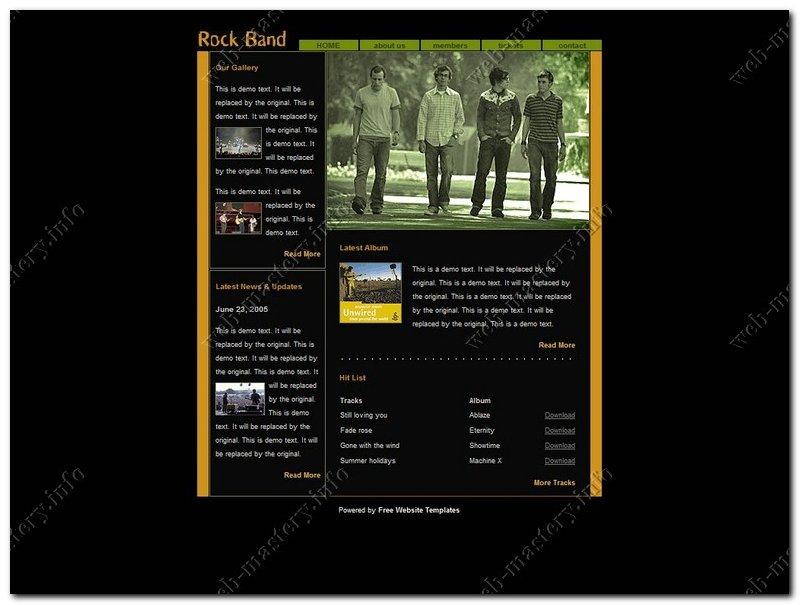 Rock Band (Сайт рок группы)