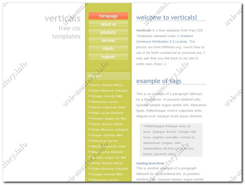 Шаблон сайта Verticals