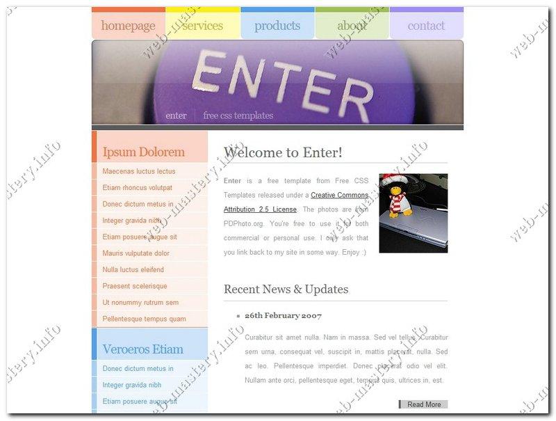 Шаблон сайта Enter