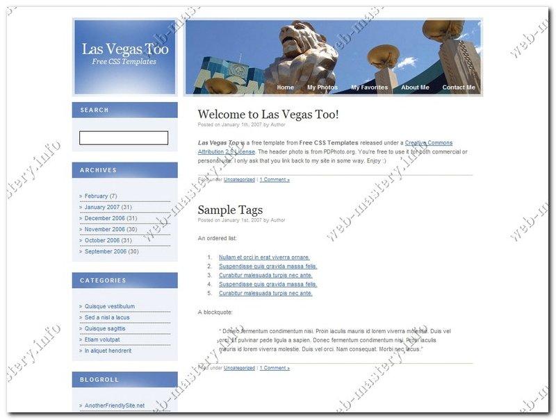 Дизайн Las Vegas Too