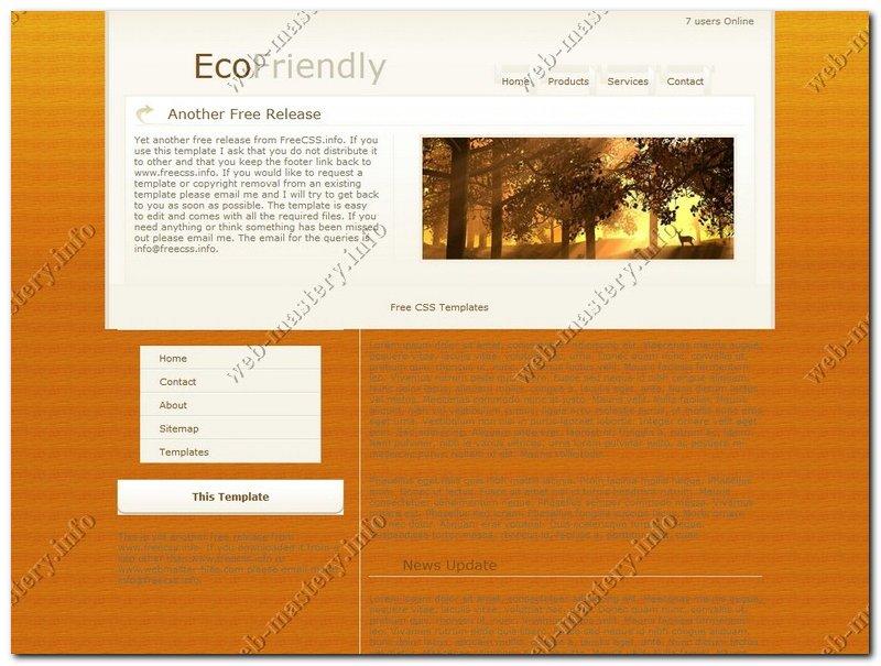Шаблон EcoFriendly