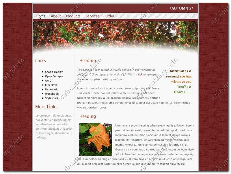 Шаблон сайта Autumn (Осень)