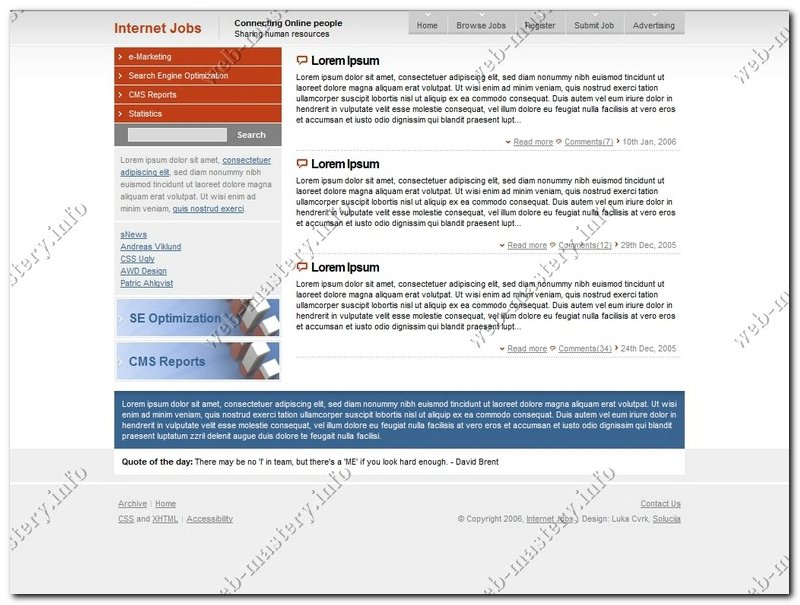 Дизайн SEO сайта