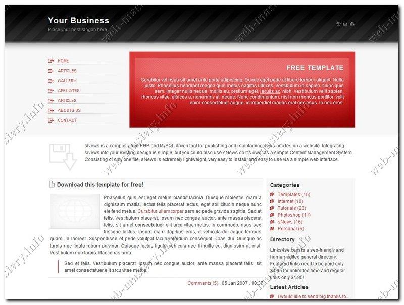 Шаблон Your Business