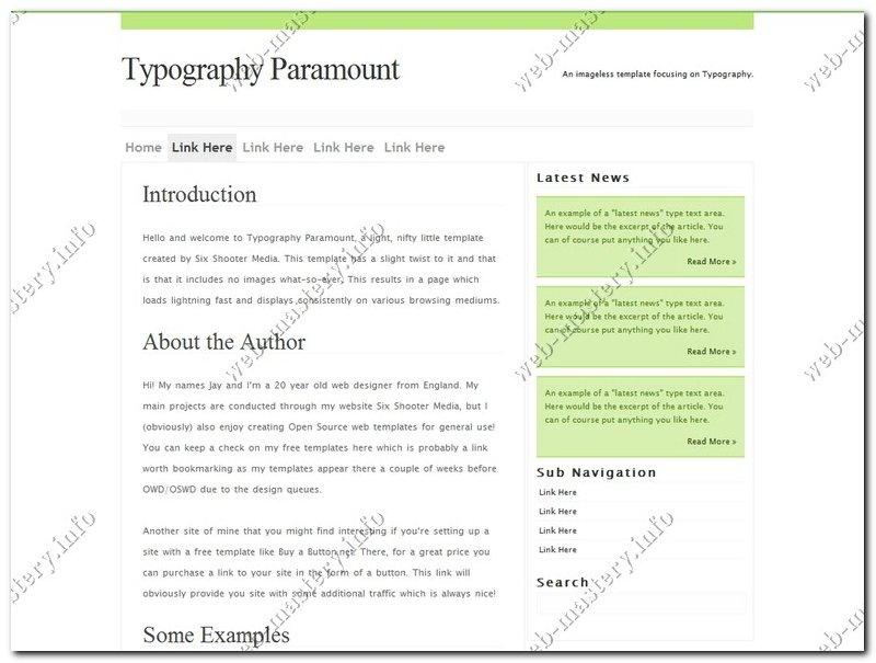 Шаблон Typography