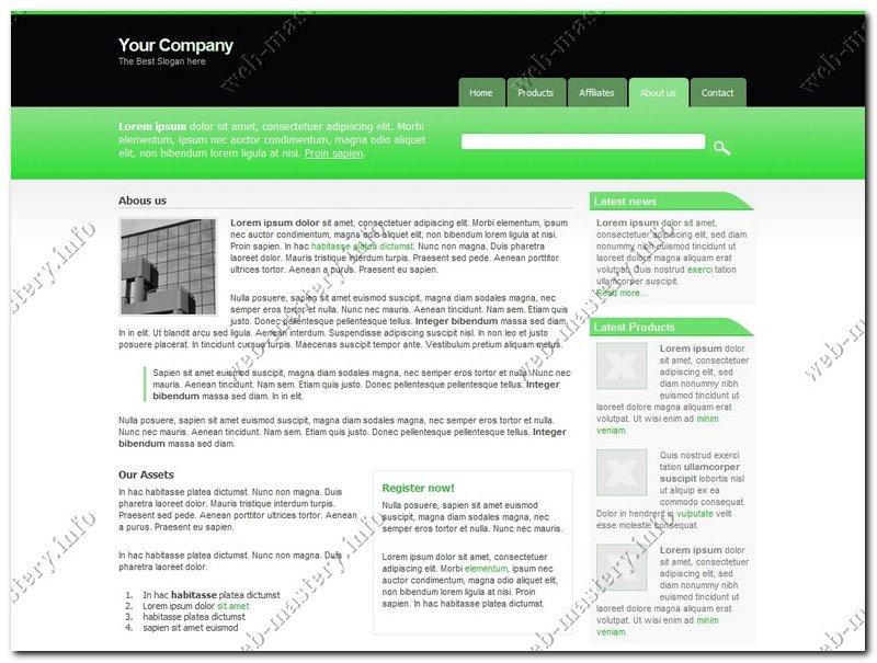 Шаблон бизнес сайта Green Business