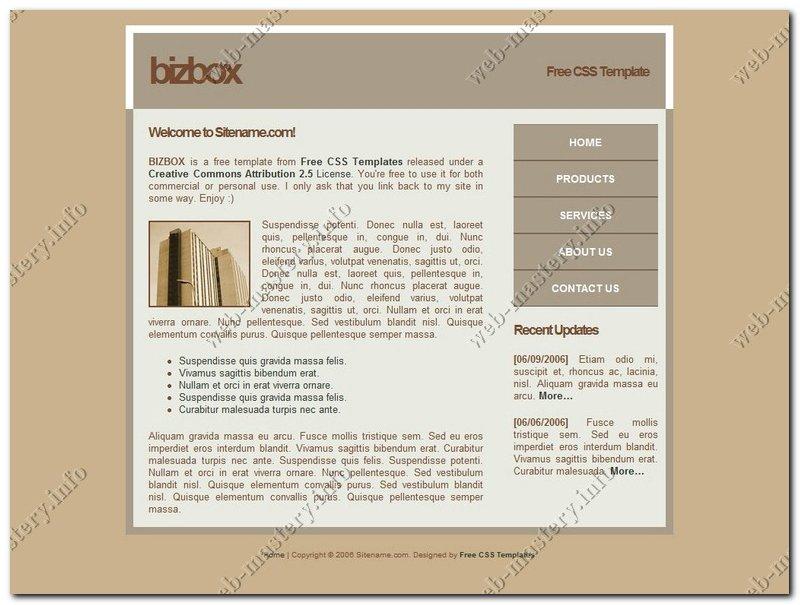 Шаблон сайта BizBox