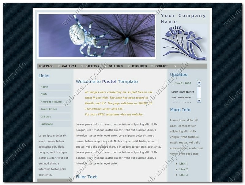 Шаблон сайта Pastel