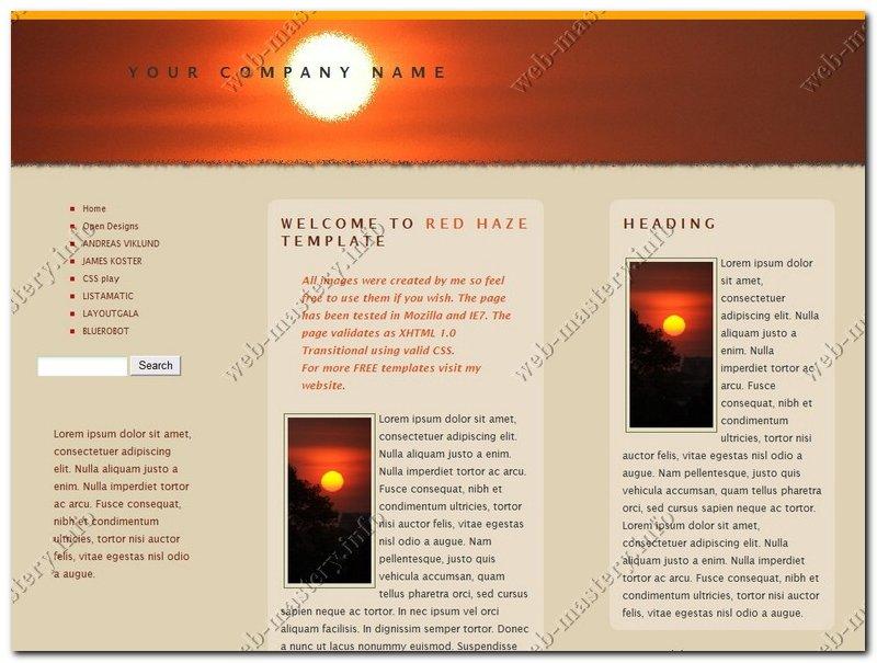 Шаблон сайта Red Haze
