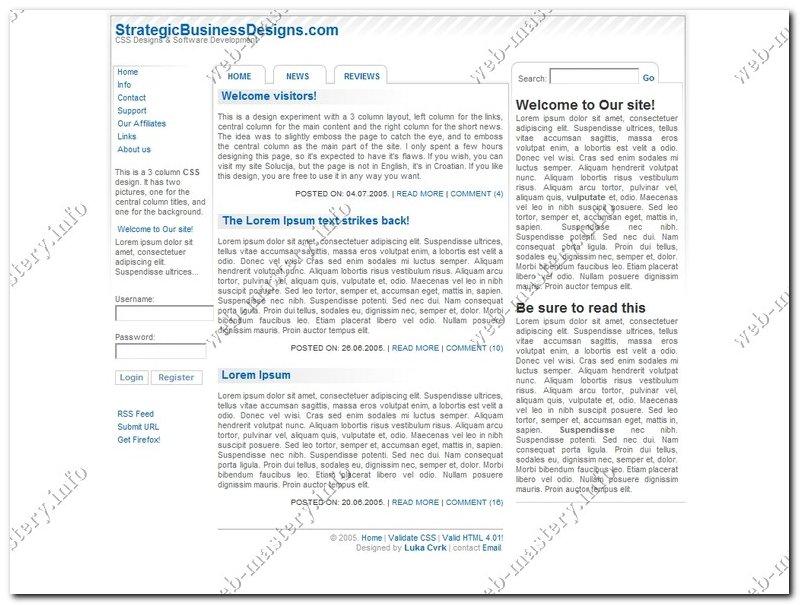 Шаблон Strategic Business Designs