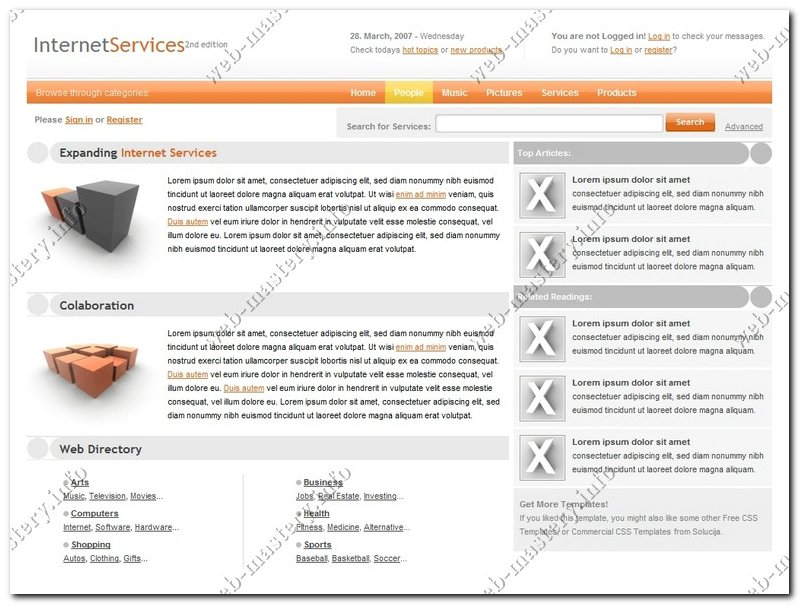 Дизайн Internet Services 2